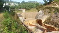 Đập thủy lợi tiền tỷ xuống cấp sau 3 năm sử dụng ở Nghệ An