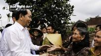 Hình ảnh gần gũi của Chủ tịch nước Trần Đại Quang trong những dịp thăm Nghệ An