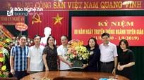 Lãnh đạo tỉnh và các ban, ngành, địa phương chúc mừng Ngày truyền thống ngành Tuyên giáo của Đảng