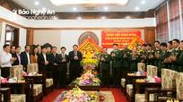 Lãnh đạo tỉnh Nghệ An chúc mừng các đơn vị nhân Ngày thành lập Quân đội nhân dân Việt Nam