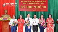 Nam Đàn bầu bổ sung các chức danh Chủ tịch, Phó Chủ tịch HĐND, UBND huyện