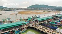Nhộn nhịp bến cá mới Quỳnh Phương (TX. Hoàng Mai)