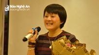 """Tác giả Hồ Thị Ngọc Hoài:  """"Biết ơn đau khổ để mến yêu cuộc đời"""""""