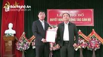 Yên Thành bổ nhiệm Bí thư Đảng ủy xã Phúc Thành