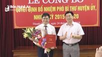 Công bố quyết định chuẩn y chức danh Phó Bí thư Huyện ủy Thanh Chương