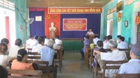 Trưởng ban Dân vận Tỉnh ủy dự sinh hoạt chi bộ cơ sở