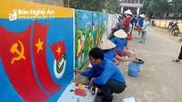 """Hút mắt với """"con đường bích họa"""" ở huyện miền núi Nghệ An"""