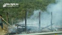 Hỏa hoạn thiêu rụi nhà dân ở biên giới Nghệ An