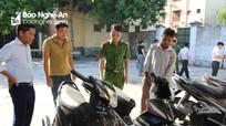Bắt thanh niên trộm liên huyện 13 xe máy
