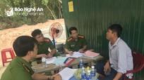 Xử lý 4 trường hợp khai thác, tàng trữ cát trái phép trên sông Lam