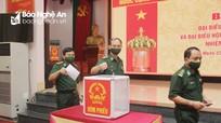 Cử tri Bộ Chỉ huy Bộ đội Biên phòng Nghệ An bầu cử đại biểu Quốc hội và HĐND các cấp