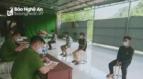 4 thanh niên trốn chốt kiểm soát phòng, chống dịch