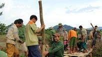 Quế Phong: Hàng trăm người dân chung tay sửa đường, làm cầu dân sinh