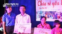 Trao gần 92 triệu đồng cho các gia đình khó khăn ở Đô Lương