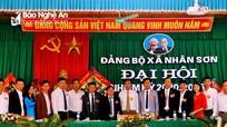 Đại hội điểm Đảng bộ xã Nhân Sơn, Đô Lương nhiệm kỳ 2020 - 2025