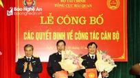 Công bố quyết định bổ nhiệm 2 Phó Cục trưởng Cục Hải quan Nghệ An