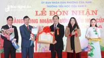 Trường Tiểu học Cửa Nam (TP Vinh) đón Bằng công nhận trường chuẩn Quốc gia mức độ I