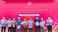 Dự án TNR Stars Diễn Châu bàn giao sổ đỏ đợt đầu cho cư dân