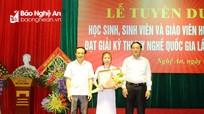 Nghệ An tuyên dương học sinh, sinh viên đạt giải tại Kỳ thi tay nghề Quốc gia năm 2018