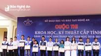Công bố 9 giải Nhất tại cuộc thi Khoa học, kỹ thuật cấp tỉnh