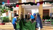 18 địa phương ở Nghệ An cho học sinh nghỉ học, nhiều trường bị thiệt hại do mưa lũ