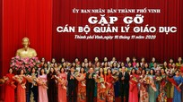 Thành phố Vinh gặp mặt hơn 300 cán bộ, quản lý giáo dục nhân ngày 20/11