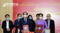 Đảng ủy Khối doanh nghiệp và Bảo hiểm xã hội tỉnh ký quy chế phối hợp