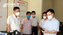 Phó Chủ tịch UBND tỉnh Bùi Đình Long kiểm tra công tác thi tại Quỳnh Lưu và Quỳ Hợp