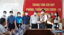 Sở Giáo dục và Đào tạo động viên, trao quà hỗ trợ thị xã Cửa Lò phòng chống dịch