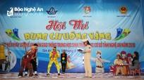 Học sinh Tân Kỳ hào hứng với Hội thi Rung chuông vàng
