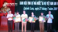 """Quỳnh Lưu tổ chức Lễ truy tặng danh hiệu """"Bà mẹ Việt Nam anh hùng"""""""