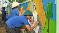 Độc đáo con đường bích họa của xã nông thôn mới ở Nghệ An