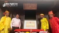 Lễ đón bằng di tích cấp tỉnh Mộ và Đền thờ Phan Sỹ Tuấn
