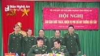 Bộ đội Biên phòng Nghệ An bàn giao chức trách Phó Chỉ huy Hậu cần