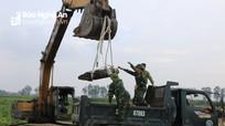 Nghệ An: Trục vớt và phá hủy an toàn quả bom còn sót lại sau chiến tranh