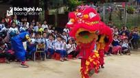 Học sinh biên giới tham gia Ngày hội mùa Xuân 2019