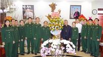 Bộ Chỉ huy BĐBP Nghệ An chúc mừng Giáo phận Vinh và Giám mục Anphongso Nguyễn Hữu Long