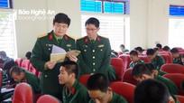 Bộ CHQS tỉnh kiểm tra công tác huấn luyện chiến sĩ mới tại Trung đoàn 764