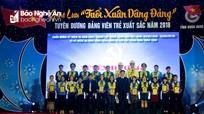 Tuyên dương 22 đảng viên trẻ xuất sắc tỉnh Nghệ An năm 2018
