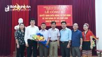 Con Cuông thực hiện luân chuyển Bí thư Đảng ủy xã
