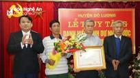 """Đô Lương tổ chức lễ truy tặng danh hiệu """"Bà mẹ Việt Nam anh hùng"""""""