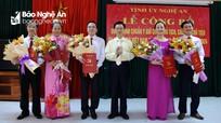 Công bố quyết định chuẩn y Chủ tịch và 4 phó Chủ tịch Ủy ban Mặt trận Tổ quốc tỉnh Nghệ An