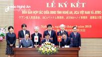Nghệ An ký kết biên bản hợp tác với JICA Việt Nam và JETRO Hà Nội