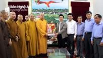 Ban Trị sự Giáo hội Phật giáo Việt Nam thăm, chúc Tết tỉnh Nghệ An