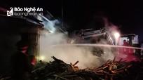 Cháy lò sấy gỗ tại xí nghiệp chế biến lâm sản