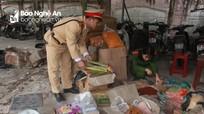 Bắt giữ 181 kg pháo và hàng thực phẩm không rõ nguồn gốc