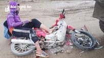 Nữ sinh ở Nghệ An bị xe tải cán gãy chân trên đường đi học