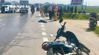 Xe chở thép va chạm xe máy, một người đàn ông tử vong