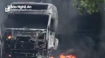 Có xe biển số Nghệ An bị cháy rụi trong vụ cháy nổ gần Cửa khẩu Lao Bảo