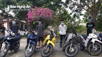 Bắt bộ tứ gây 21 vụ trộm cắp xe máy, cướp giật tài sản ở Nghệ An